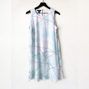 Alfani White Printed Sheer Sleeveless Tunic size 8